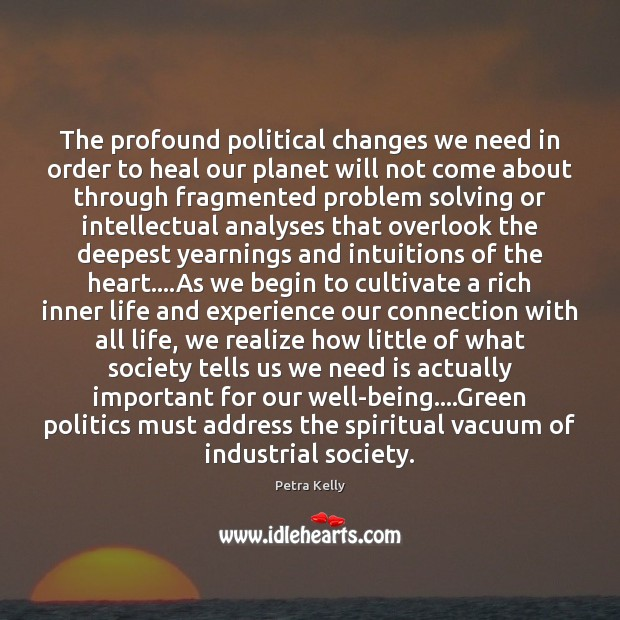 The profound political changes we need in order to heal our planet Image