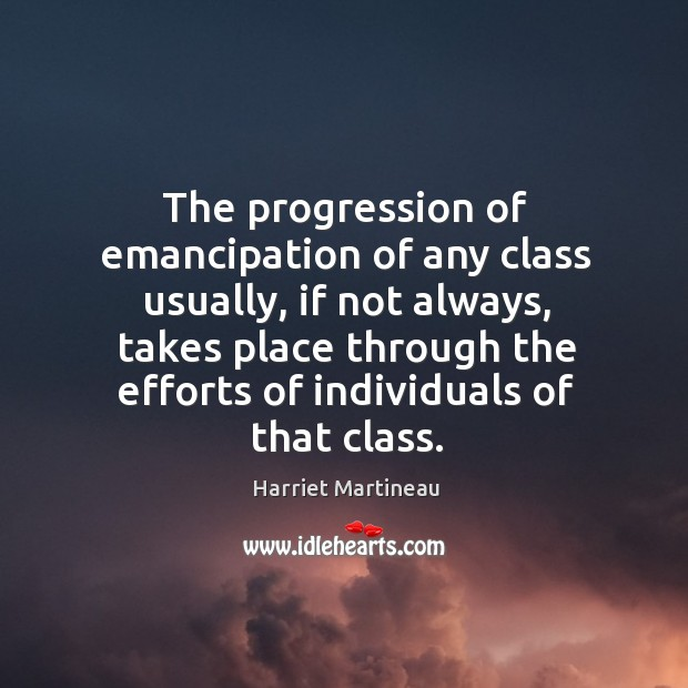 Image, The progression of emancipation of any class usually, if not always
