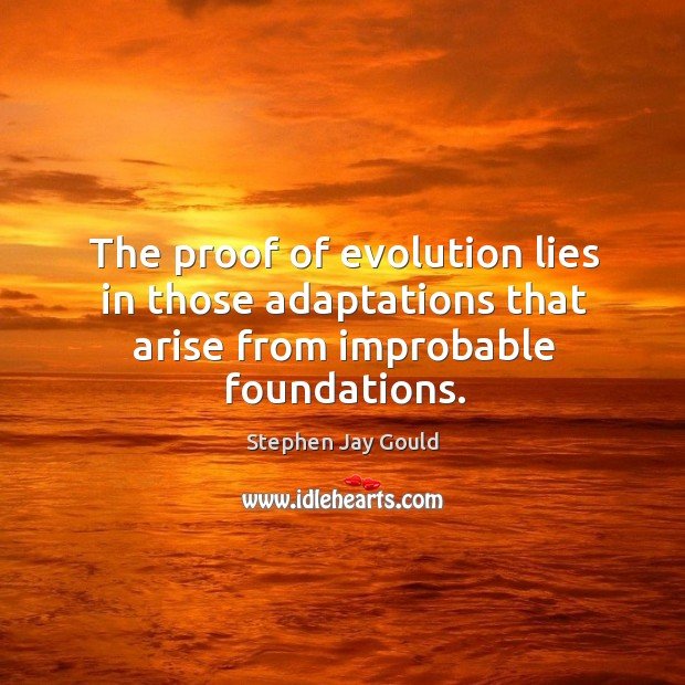 Image, The proof of evolution lies in those adaptations that arise from improbable foundations.