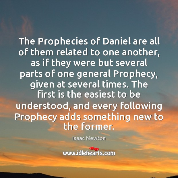 The Prophecies of Daniel are all of them related to one another, Image