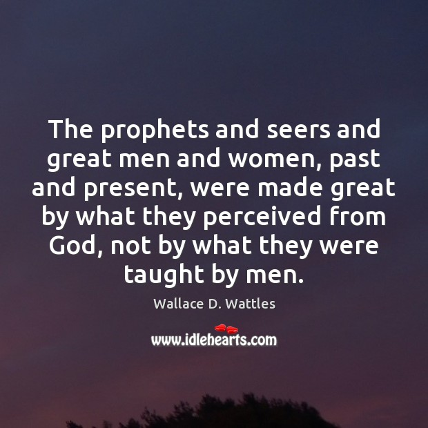 The prophets and seers and great men and women, past and present, Image