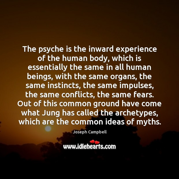 Image, The psyche is the inward experience of the human body, which is