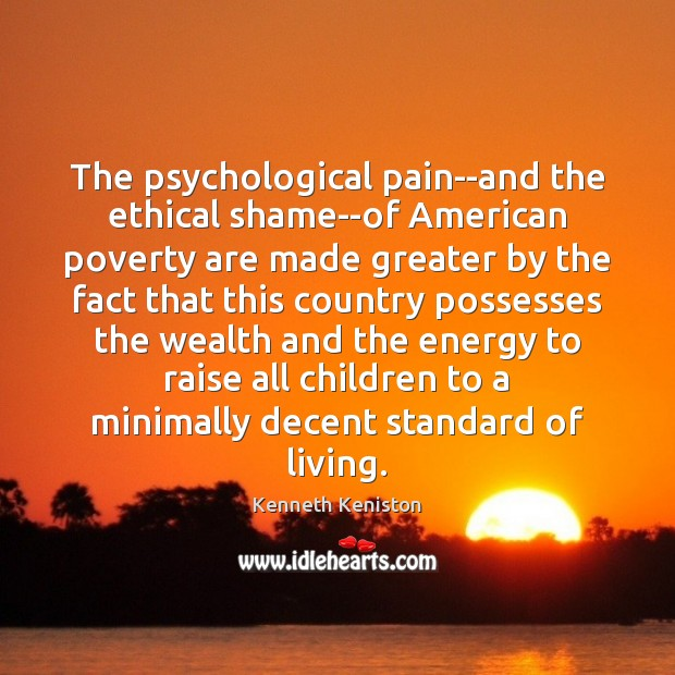 Image, The psychological pain–and the ethical shame–of American poverty are made greater by