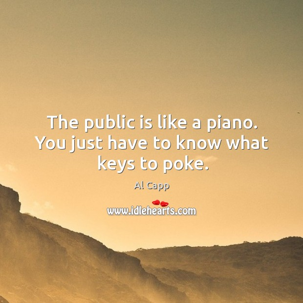 Image, The public is like a piano. You just have to know what keys to poke.