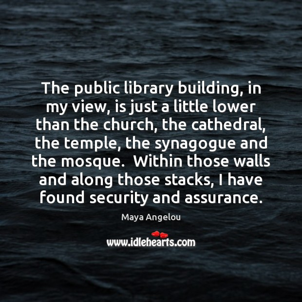 Image, The public library building, in my view, is just a little lower