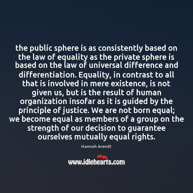 Image, The public sphere is as consistently based on the law of equality