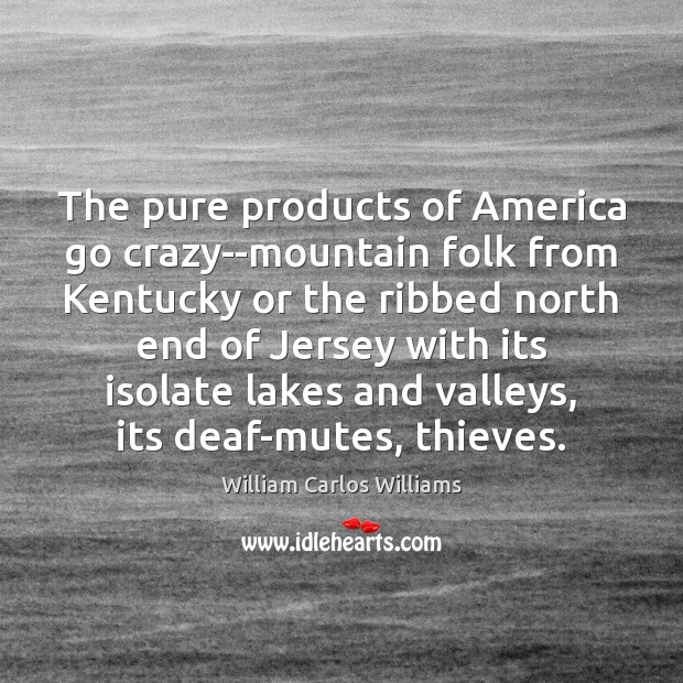 The pure products of America go crazy–mountain folk from Kentucky or the William Carlos Williams Picture Quote