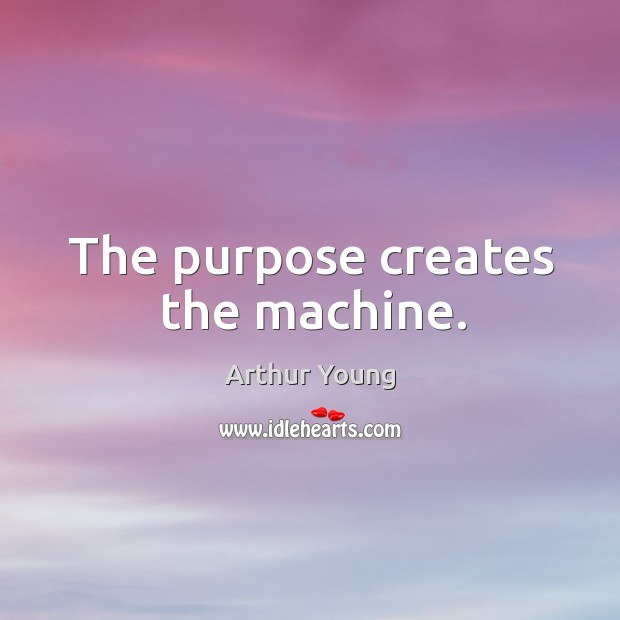 Image, The purpose creates the machine.