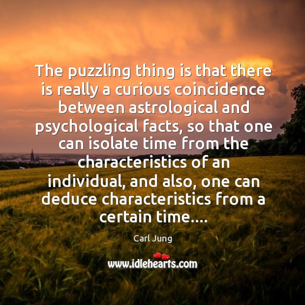 Image, The puzzling thing is that there is really a curious coincidence between