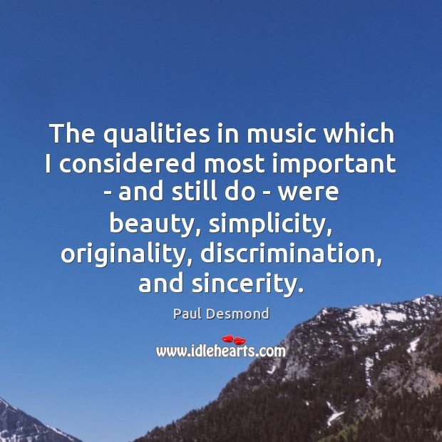 Picture Quote by Paul Desmond