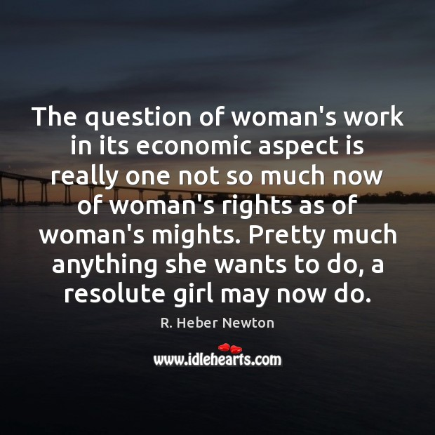 The question of woman's work in its economic aspect is really one Image