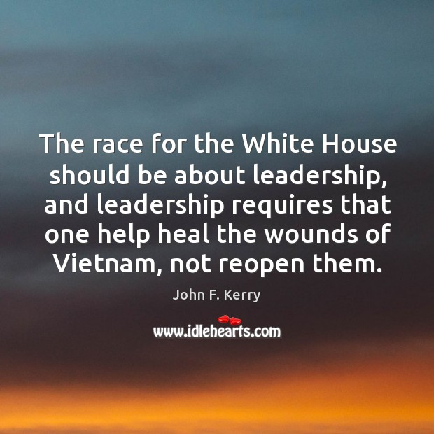 Image, The race for the White House should be about leadership, and leadership