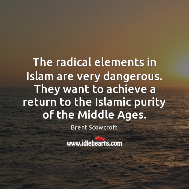 Image, The radical elements in Islam are very dangerous. They want to achieve
