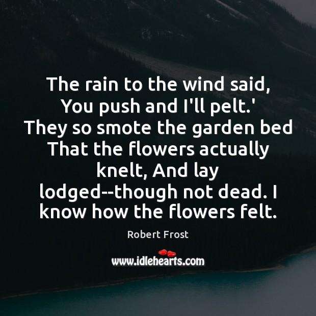 Image, The rain to the wind said, You push and I'll pelt.'