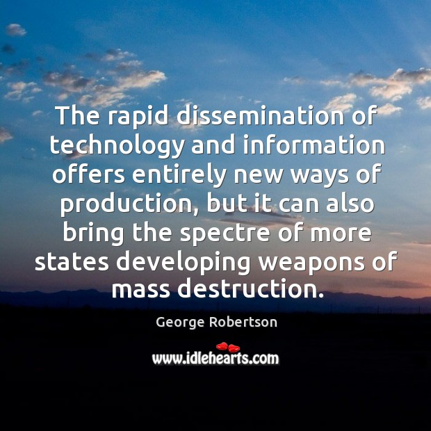 The rapid dissemination of technology and information offers entirely new ways of production Image