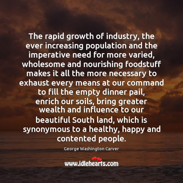 The rapid growth of industry, the ever increasing population and the imperative Image