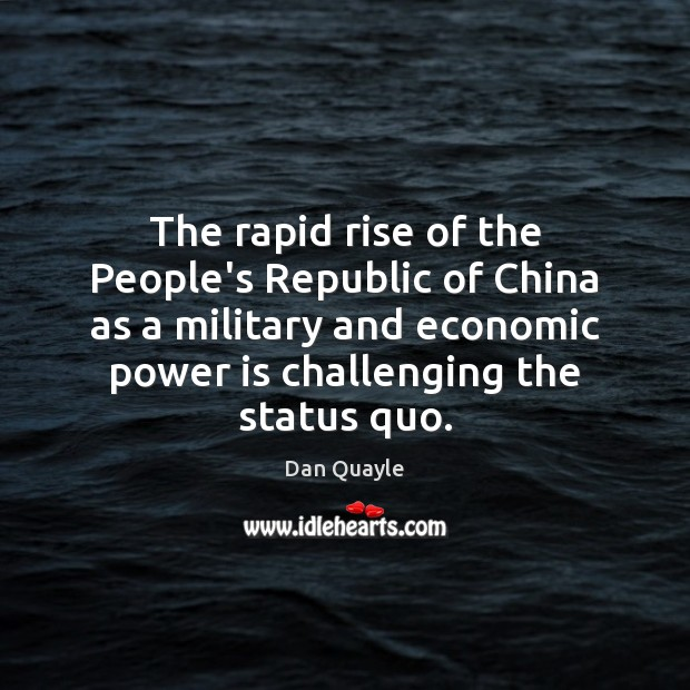 The rapid rise of the People's Republic of China as a military Image