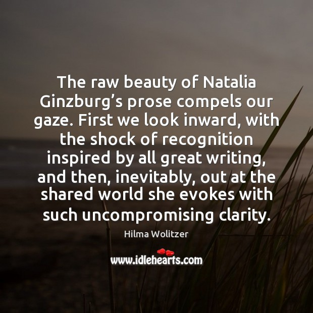 Image, The raw beauty of Natalia Ginzburg's prose compels our gaze. First