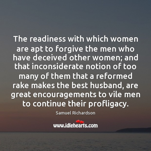 Image, The readiness with which women are apt to forgive the men who