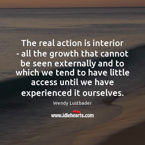 The real action is interior – all the growth that cannot be Image
