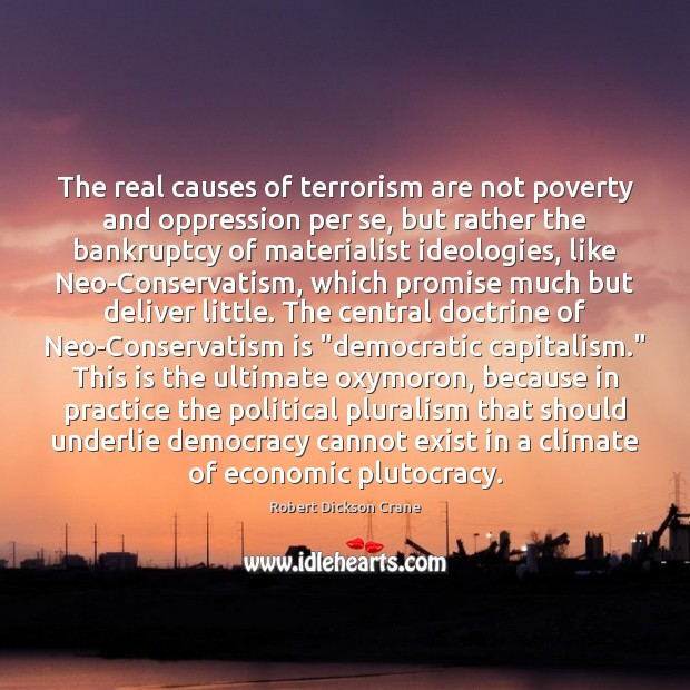 The real causes of terrorism are not poverty and oppression per se, Image