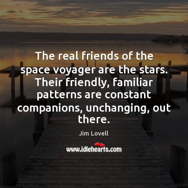 The real friends of the space voyager are the stars. Their friendly, Real Friends Quotes Image