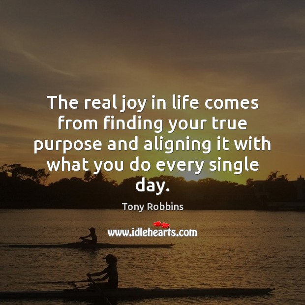 Image, The real joy in life comes from finding your true purpose and