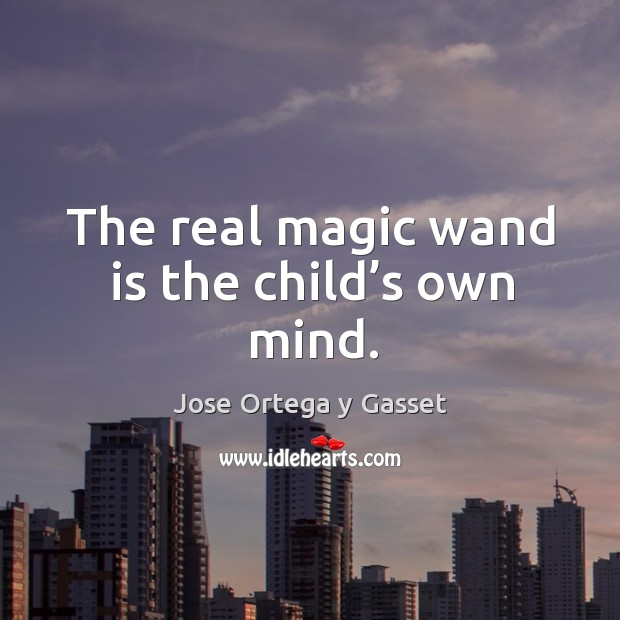 The real magic wand is the child's own mind. Image