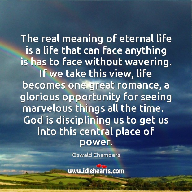 The real meaning of eternal life is a life that can face Image