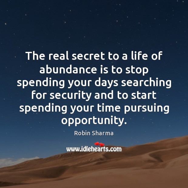 Image, The real secret to a life of abundance is to stop spending