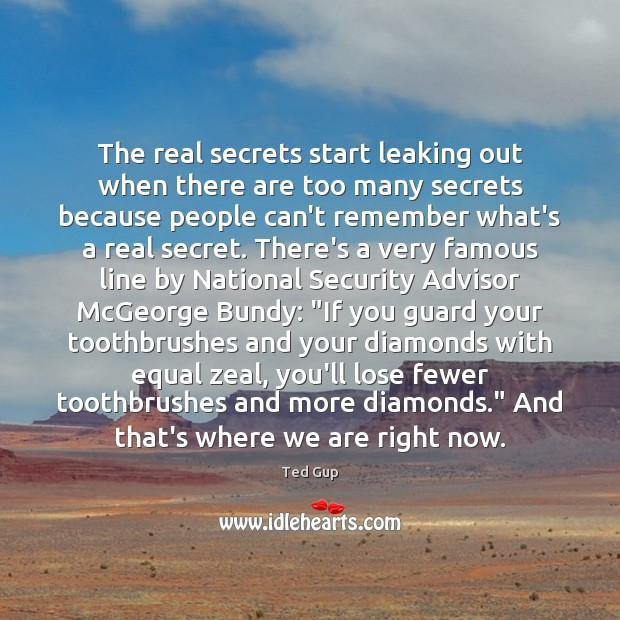 Image, The real secrets start leaking out when there are too many secrets