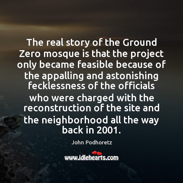 The real story of the Ground Zero mosque is that the project Image