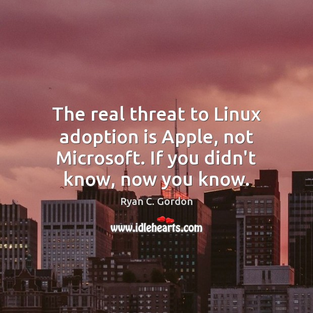 Image, The real threat to Linux adoption is Apple, not Microsoft. If you