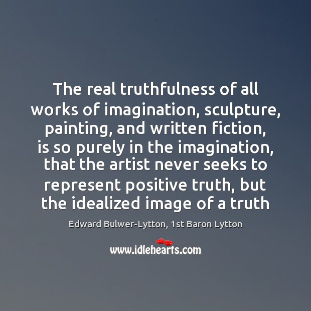 Image, The real truthfulness of all works of imagination, sculpture, painting, and written