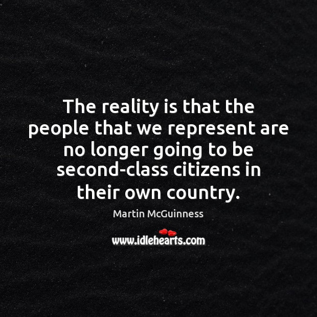 The reality is that the people that we represent are no longer Image