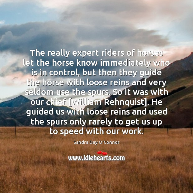Image, The really expert riders of horses let the horse know immediately who