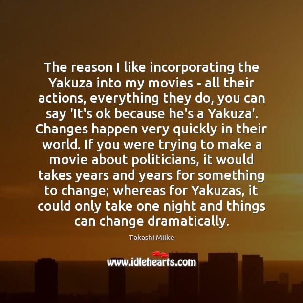 The reason I like incorporating the Yakuza into my movies – all Image