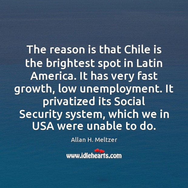 Image, The reason is that Chile is the brightest spot in Latin America.
