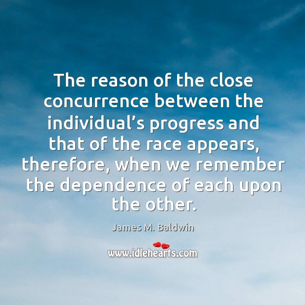 Picture Quote by James M. Baldwin