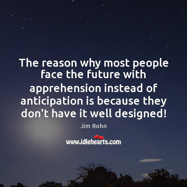 The reason why most people face the future with apprehension instead of Image