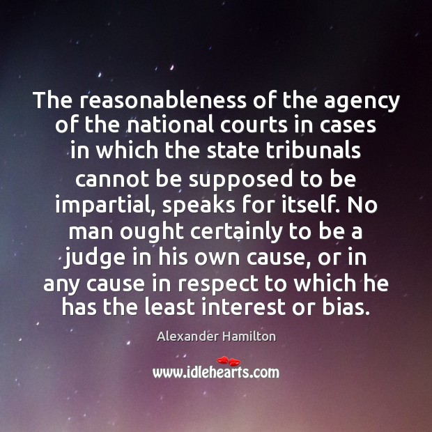 Image, The reasonableness of the agency of the national courts in cases in