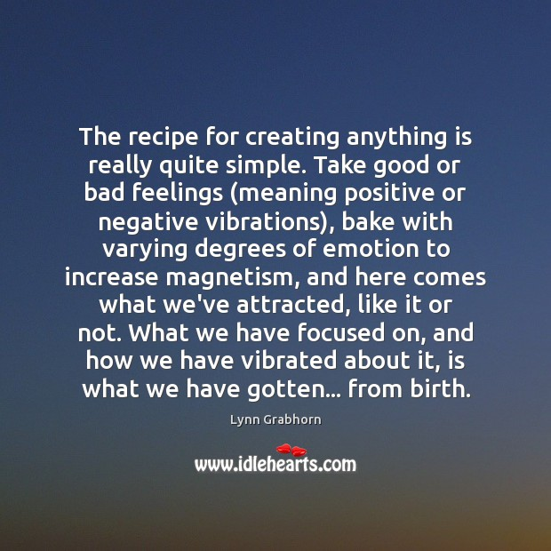 Image, The recipe for creating anything is really quite simple. Take good or