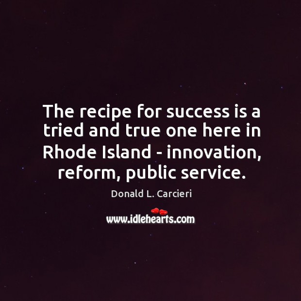 The recipe for success is a tried and true one here in Image