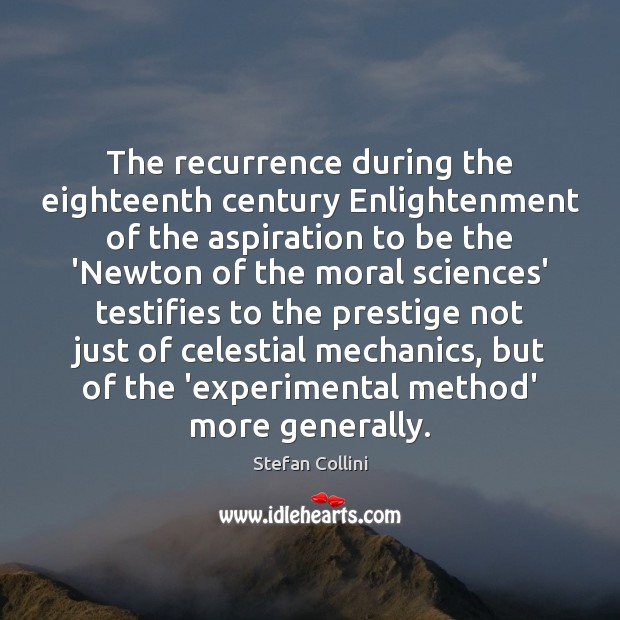 The recurrence during the eighteenth century Enlightenment of the aspiration to be Image