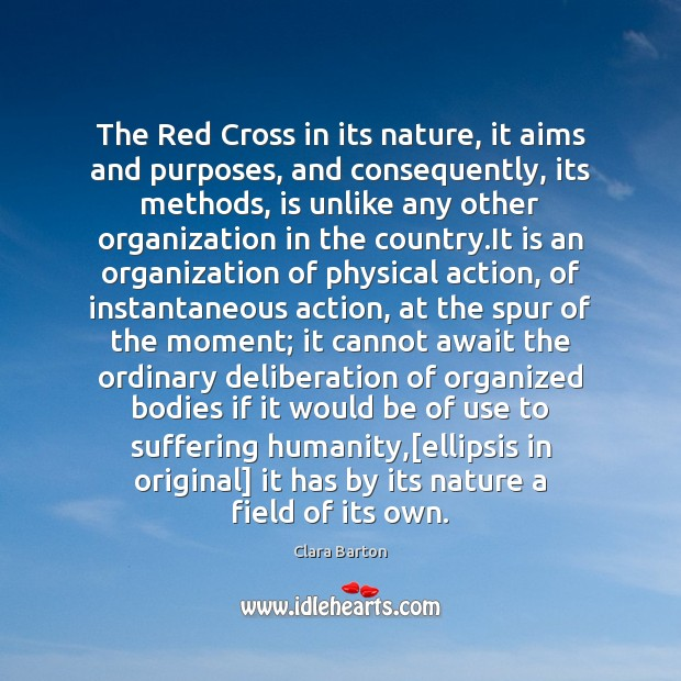 Image, The Red Cross in its nature, it aims and purposes, and consequently,