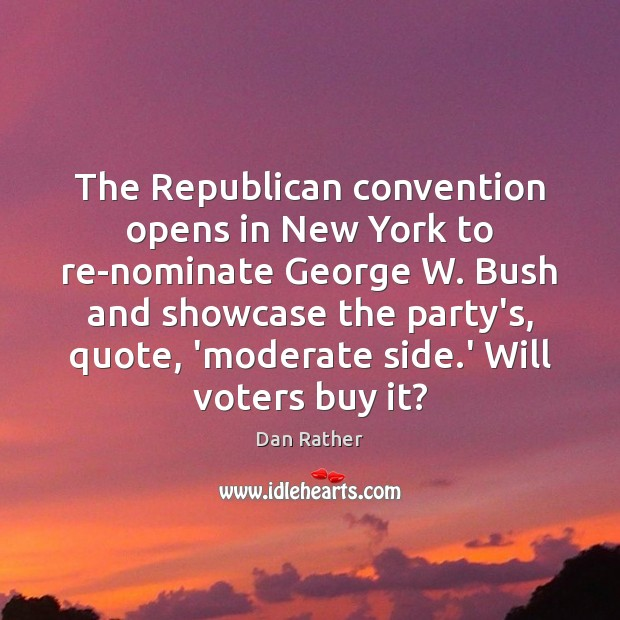 The Republican convention opens in New York to re-nominate George W. Bush Image