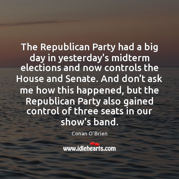 Image, The Republican Party had a big day in yesterday's midterm elections and