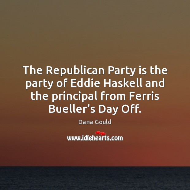The Republican Party is the party of Eddie Haskell and the principal Image