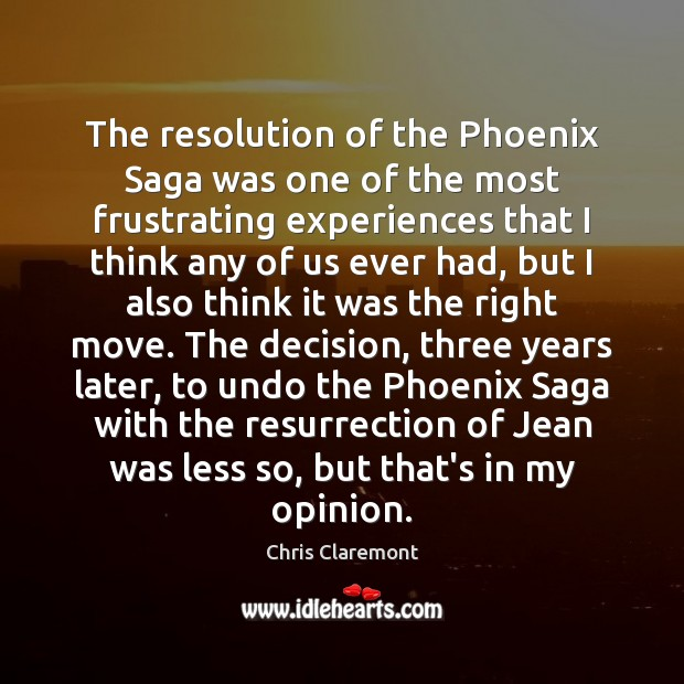 The resolution of the Phoenix Saga was one of the most frustrating Image