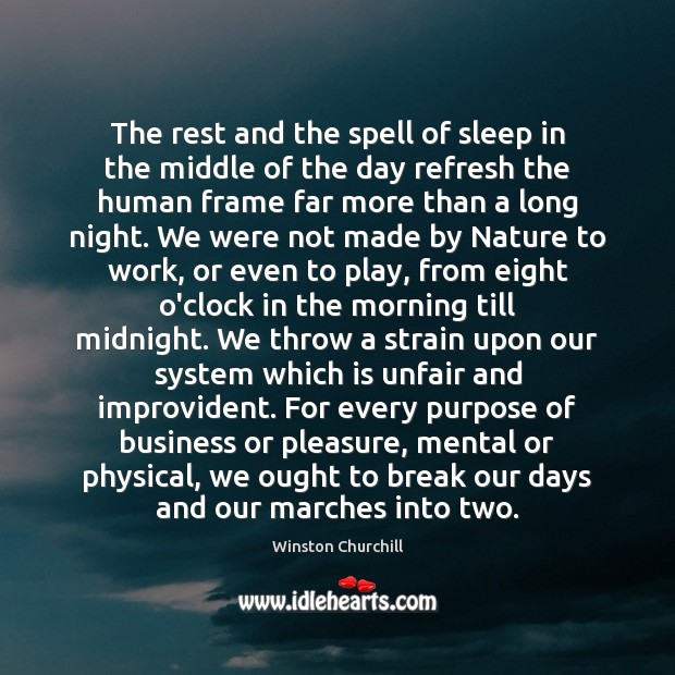 Image, The rest and the spell of sleep in the middle of the